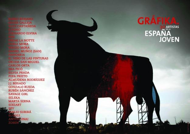 Cartel de la exposición Gráfika