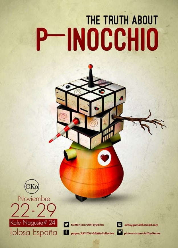 ART TOY GAMA Collective ART DESIGNER TOYS PINOCCHIO EXHIBITION (3)